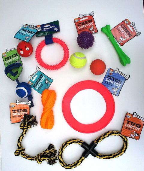 11 x ARMITAGE PET DOG SQUEAKY CHEW ROPE BALL FUN GOOD BOY DOG PUPPY TOY FUN PACK